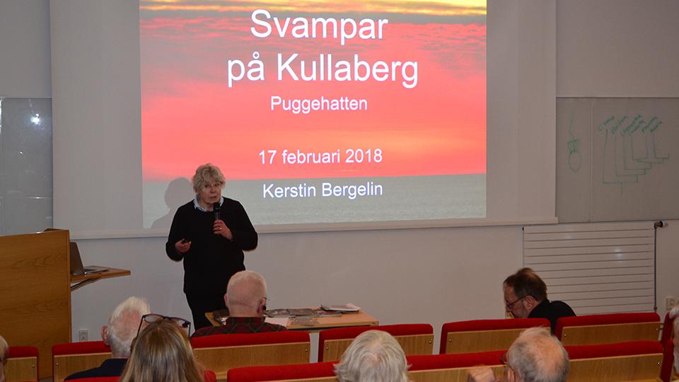 Kerstin Bergelin presenterade sin bok Svampar på Kullaberg.